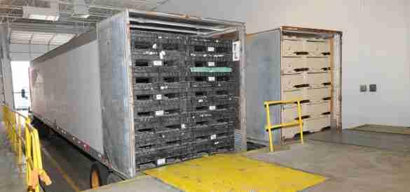 Collapsed returnables improve logistics efficiencies