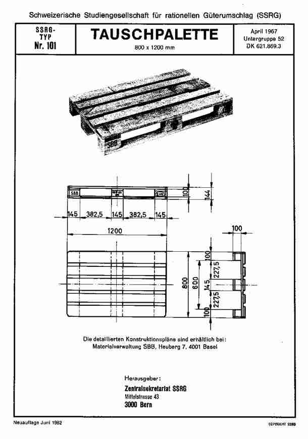 EPAL pallet drawing 1967