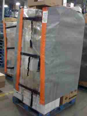 envirowrapper,reusable pallet wrapper,stretch wrap elimination