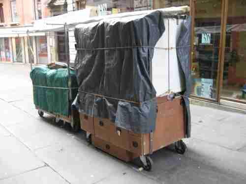 Venice Italy moving cart,moving cart Venice Italy, push cart Venice