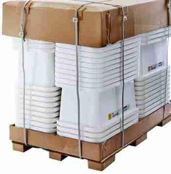 Block-style paper pallet (IKEA).