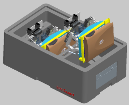 Figure 2:  b) 3D CAD model of the tote with the manifold