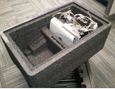 Figure 2: c) a picture of the CNC prototype of the new tote design.