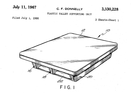 early plastic pallet patent