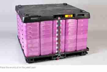 The proprietary EnviroLid pallet lid system.