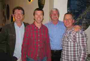 Tournament Winners LTR Mark Cluver Patties, Andrew Junge Progressive Ent, Sir Richard Hadlee, Nick Trask Loscam