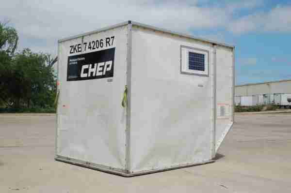 CHEP Aerospace ULD fitted with GPRS tracking device.