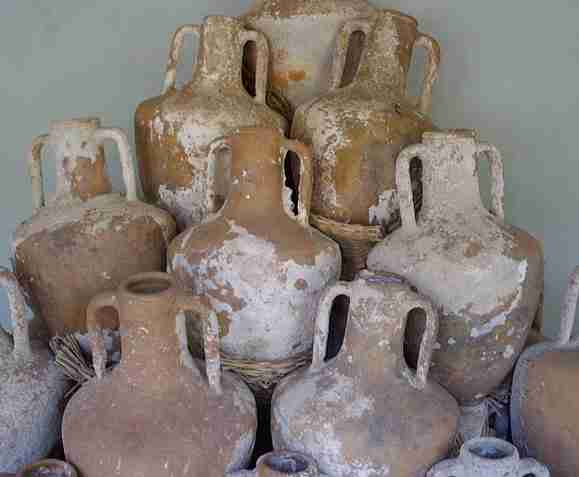 Commercial transport amphoras are large ceramic vessels that were used from 1500 BC to 500 AD to ship wine and other products throughout the Mediterranean. (See Dr. Twede's paper, The packaging technology and science of ancient transport amphoras