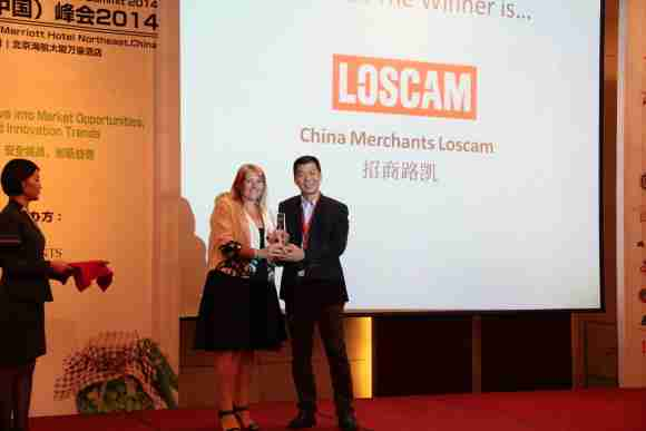 Scott Chi accepting award for Loscam