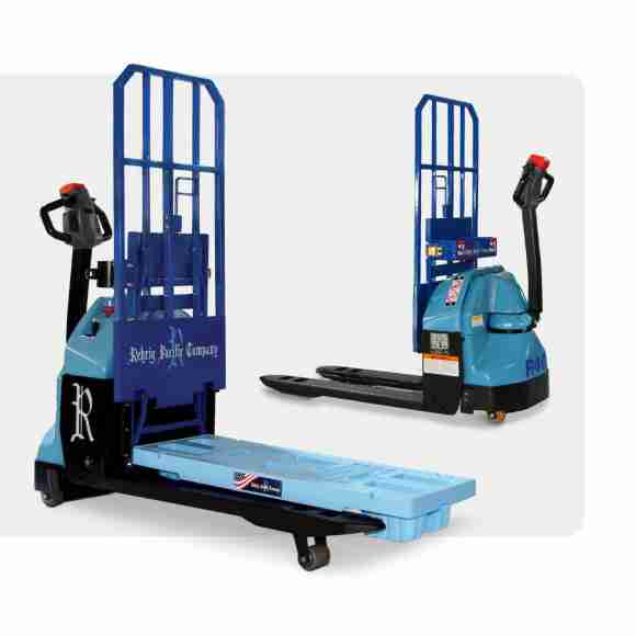 The DSD R40 Electric Lift and the GS Pallet are components of Rehrig Pacific's new DSD-GS solution.