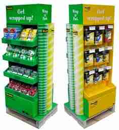 Quarter pallet display examples, sourced at Pinterest.