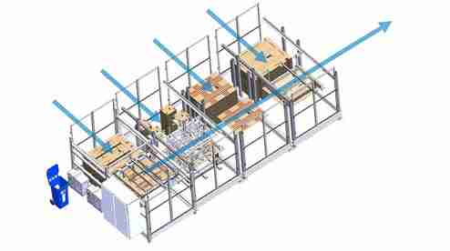 Paper pallet assembly machine