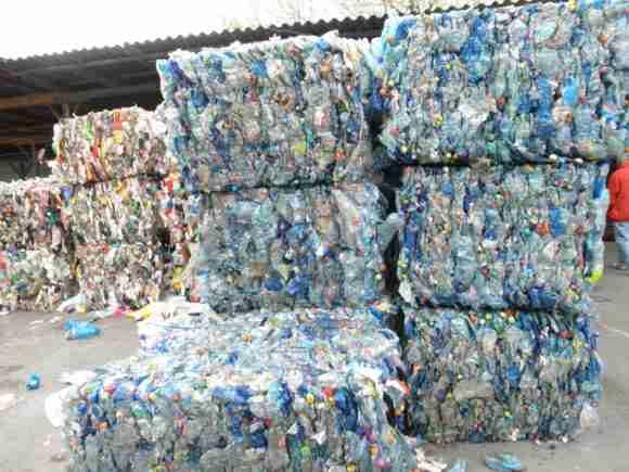 scrap plastic PET bottles