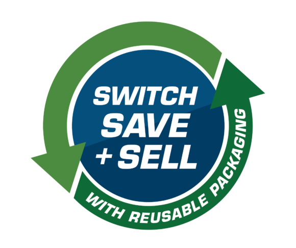 Reusable packaging switch save & sell
