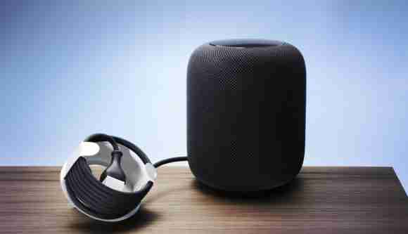 paperboard Apple HomePod cord holder
