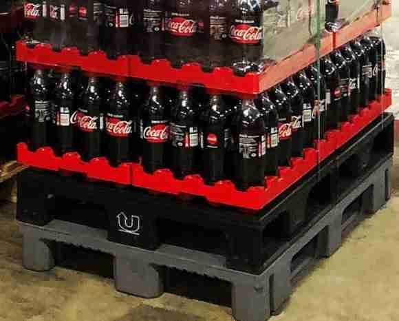 Coca Cola plastic pallet Retursystem