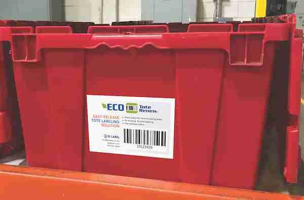 Eco Tote Renew label