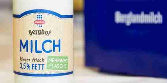 Berglandmilch reusable bottles