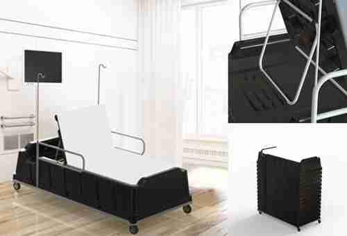 COVID emergency hospital bed