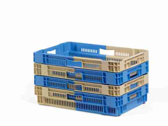 nested plastic crates