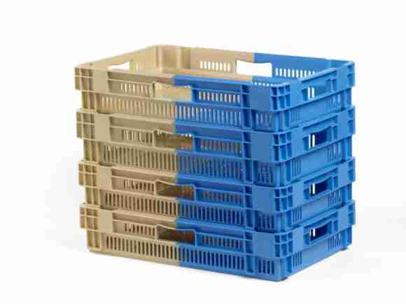 Stacked crates