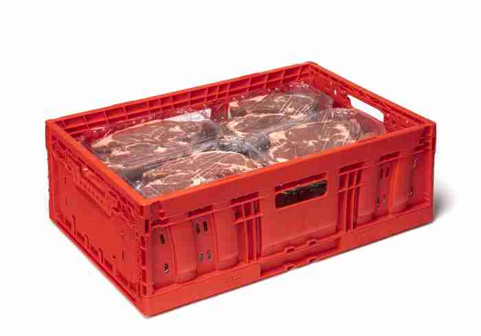 reusable meat crate